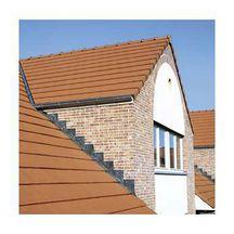 Tuile grand moule aspect plat actua terre cuite rouge 472x303 mm koramic toiture for Koramic tuiles prix