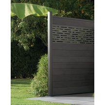 en soldes a0737 44147 Lame de clôture bois composite co-extrudée Izzie - gris anthracite - H.  16.2 cm x L. 1.745 m - ép. 20 mm - paquet de 3 lames