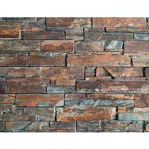 plaquette de parement mural pierre naturelle ilos ardoise flamm e 15x55 cm p 2 5 3 5 cm. Black Bedroom Furniture Sets. Home Design Ideas