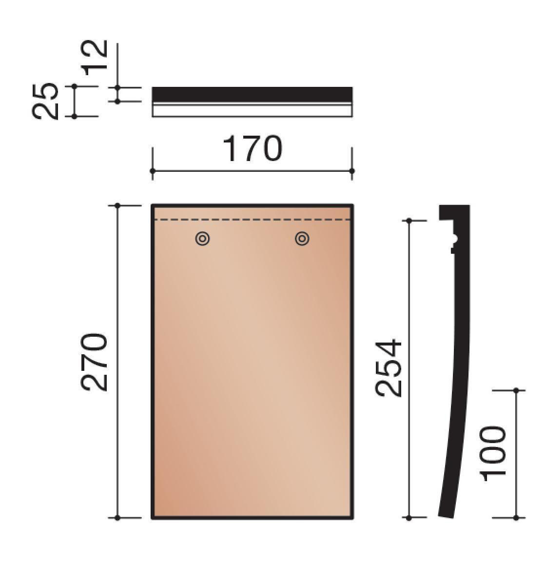 Koramic tuile plate 301 terre cuite rouge 270x170 - Prix tuile plate terre cuite ...