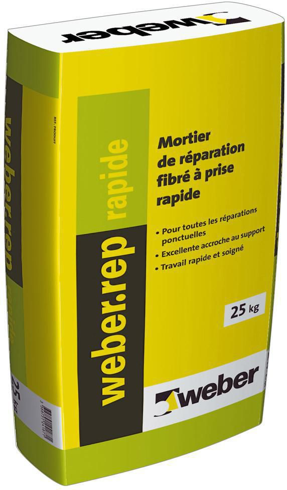Weber Mortier De Réparation Fibré à Prise Rapide Weber Rep