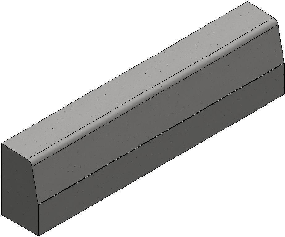 Bordure Alkern Type T2 Classe Ub 15x25x100 Cm