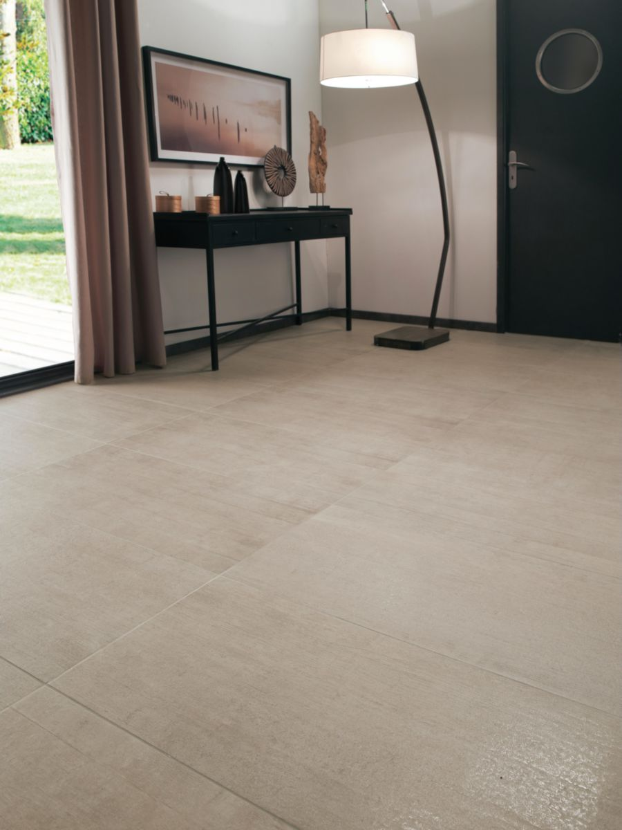 Arte Design Carrelage Sol Interieur Gres Cerame Emaille Free Beige Semi Lappato 44 2x89 2 Cm Point P