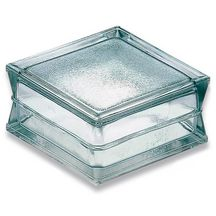 Pav� de verre double isolant La Roch�re - 19x19x10 cm