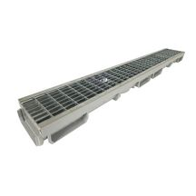 Caniveau bas PVC 1 grille inox B125 Nicoll 1 m - Largeur 130 mm