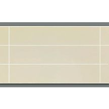 Lambris PVC imitation carrelage petits carreaux décor craie satiné 10x250x1200 mm