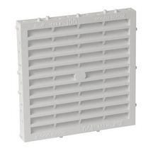 Grille a�ration sp�ciale fa�ade carr�e blanc Nicoll - 150x150 mm