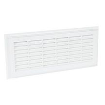Grille a�ration rectangulaire d�montable blanc Nicoll - 140x319 mm