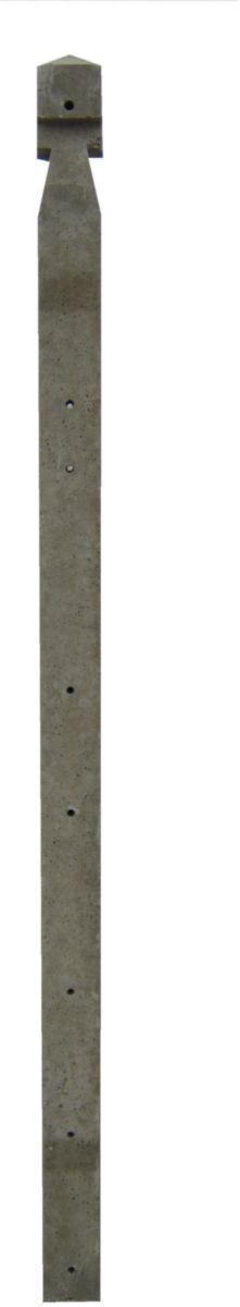 Maubois Poteau Beton D Angle A Encoche Pour Cloture Grillagee 150 Cm Gris H 200 Cm 10x10 Cm Point P