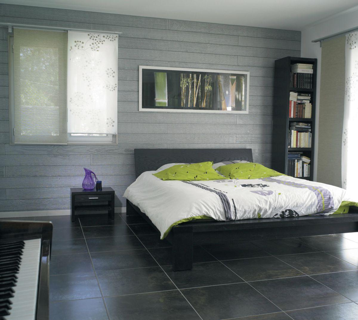 chambre lambris mural. Black Bedroom Furniture Sets. Home Design Ideas