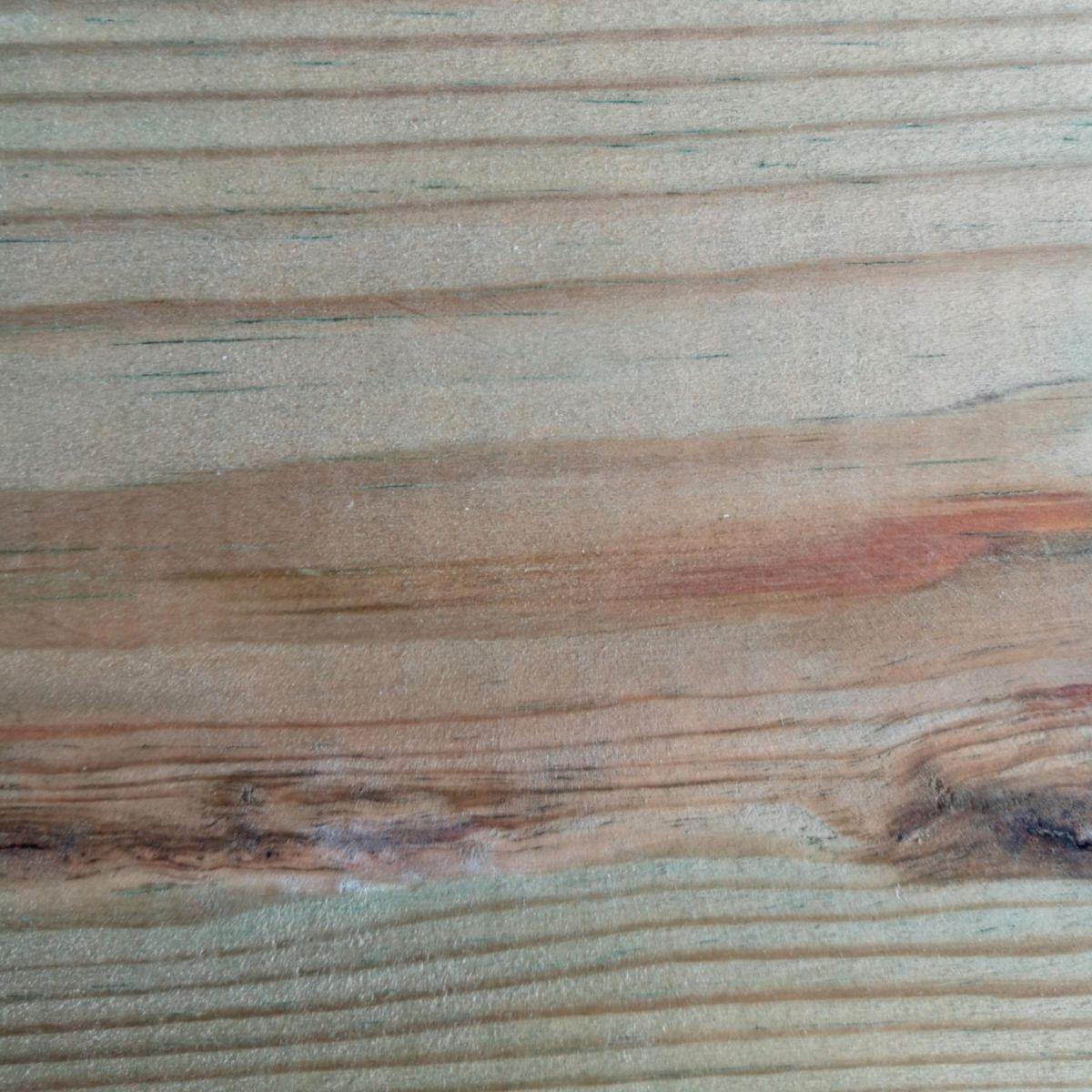 Lame De Terrasse Pin Sylvestre Face Double Peigne Traite Classe 4 Vert L 4 80 M 27x145 Mm