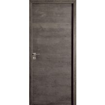 Porte pour syst�me coulissant Epure - ch�ne massif  bross� anthracite -204x73 cm
