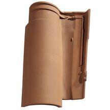 Tuile terre cuite gall ane 12 monier cuivre 473x285 mm monier toiture charpente for Distributeur tuiles monier