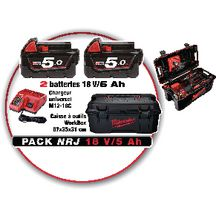 Batterie et chargeur Milwaukee M18 FUELUP-502 W