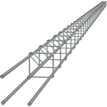 Armature de poteau 4 filants Ø 10 mm - L. 6 m - 10x10 cm