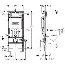 b ti support autoportant duofix sigma 12 cm pour wc geberit geberit outillage. Black Bedroom Furniture Sets. Home Design Ideas