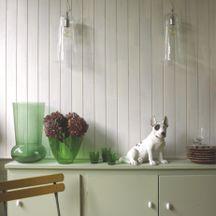 Lambris pin bross blanc loft verni mat 10x90x2500 mm arte home d corat - Lambris brosse blanc ...