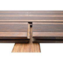 Lame de terrasse bois exotique bamboo x treme moso 20x137 - Lame de terrasse point p ...