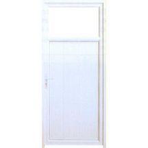 Porte de service PVC blanc Riviera D60N 4 12 4 transparent crémone relevage  poignée 5678c392254