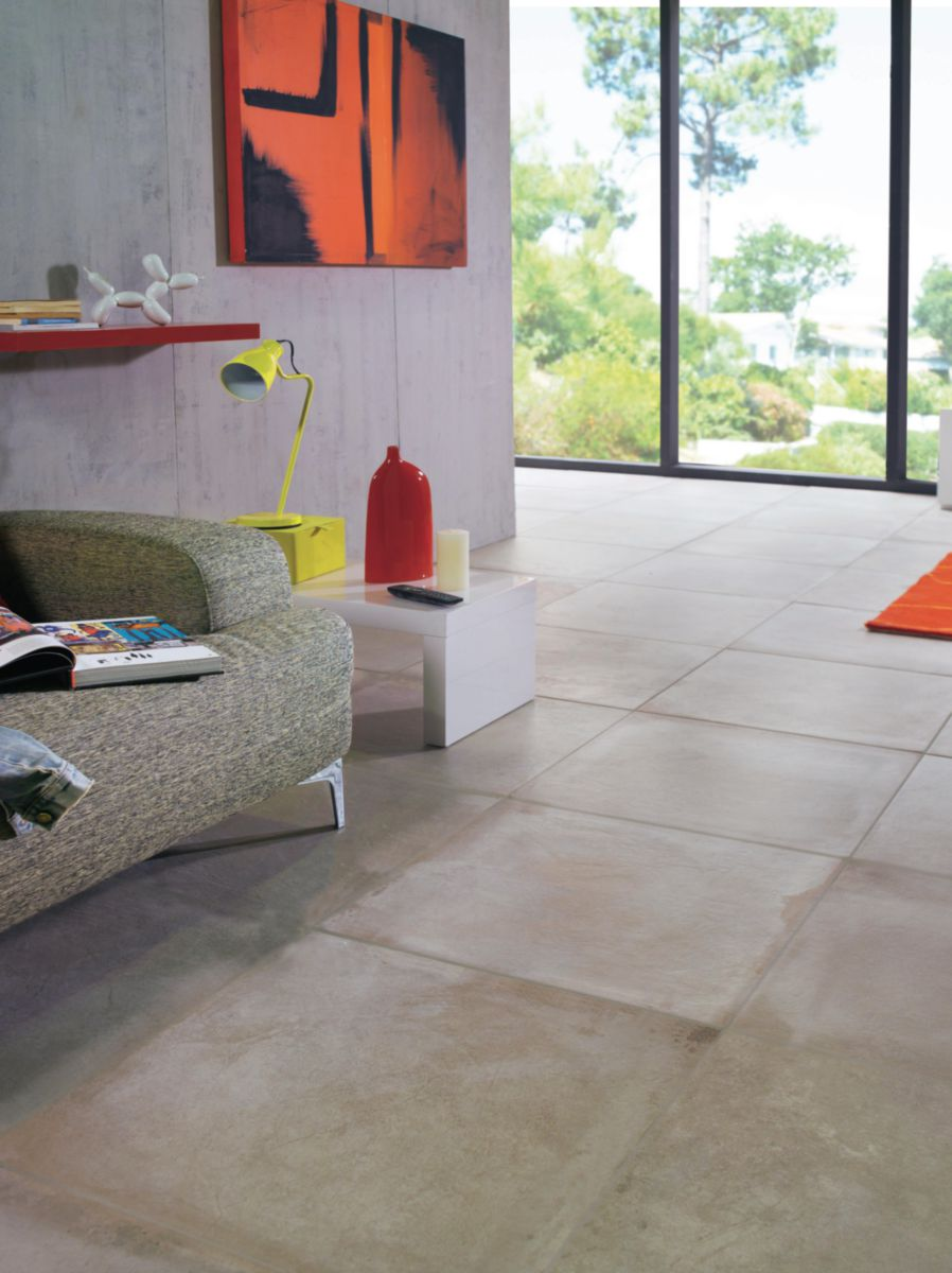 Arte home carrelage sol int rieur gr s c rame maill hector beige 60x60 cm point p for Carrelage sol interieur