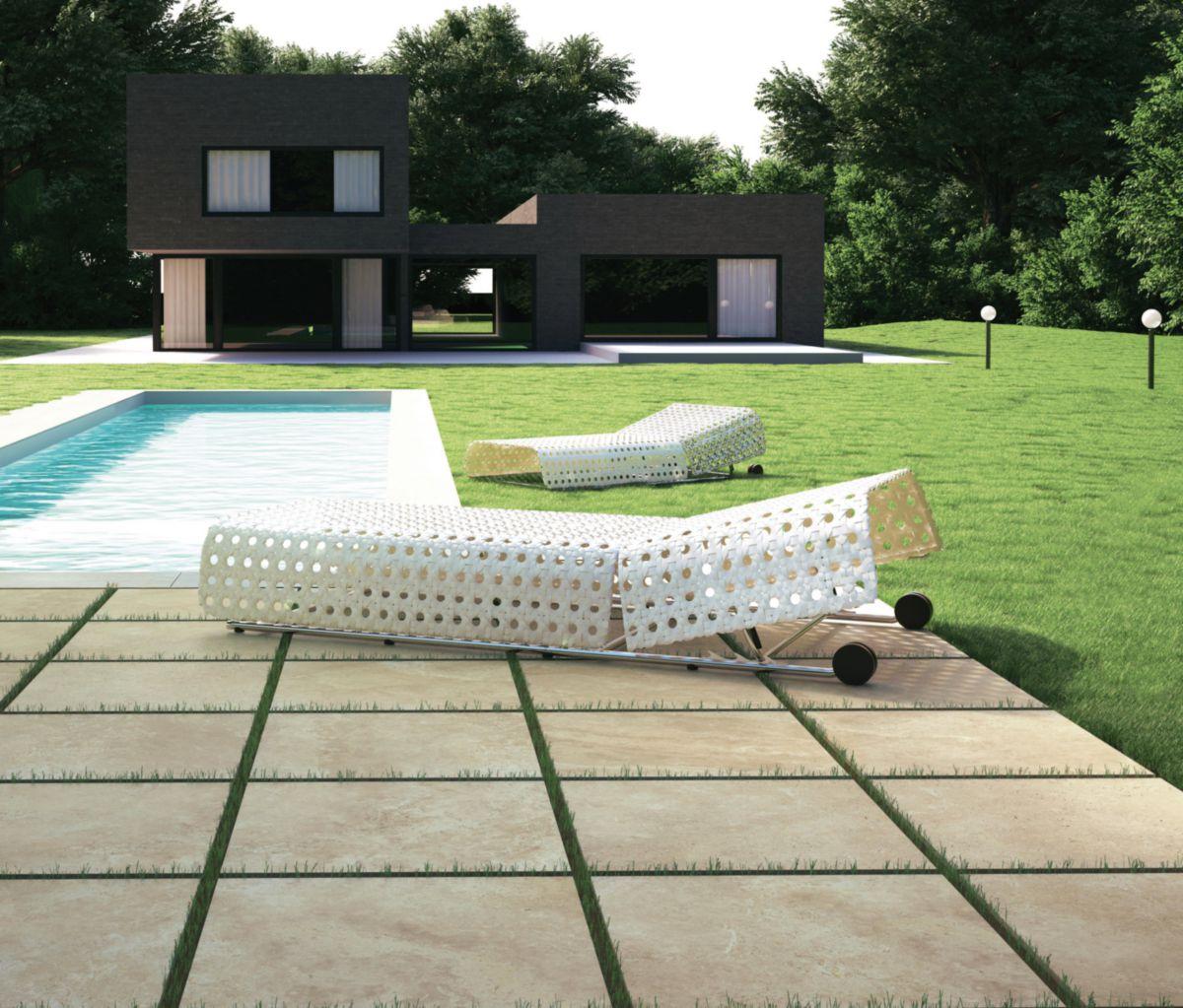 del conca carrelage sol ext rieur gr s c rame due trevi. Black Bedroom Furniture Sets. Home Design Ideas