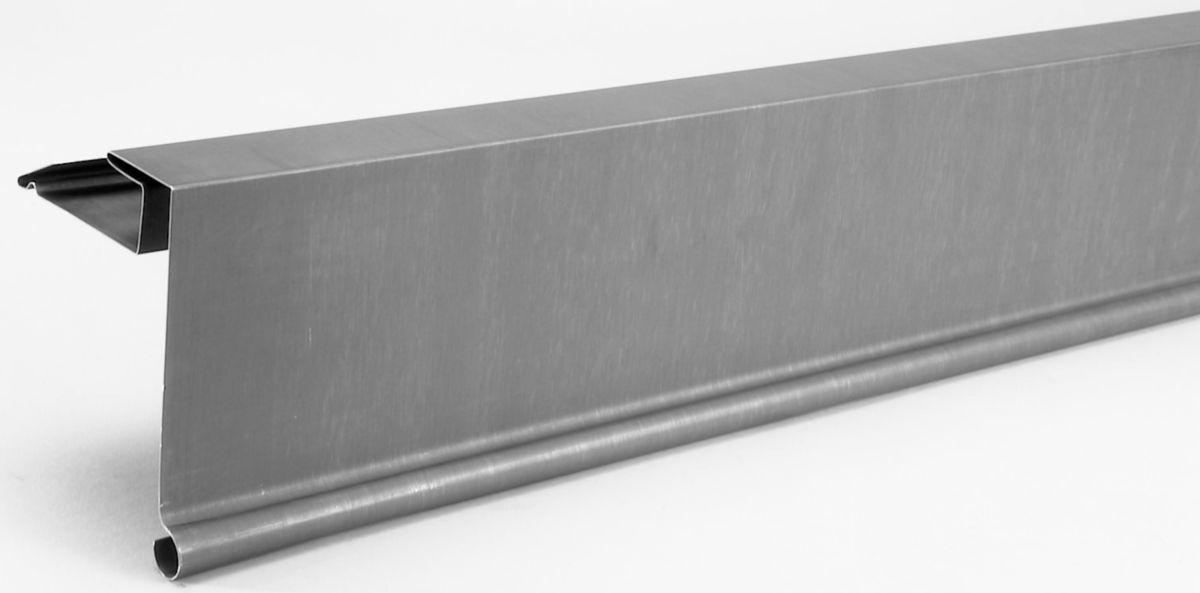bande de rive zinc naturel 750r100g pose à gauche 211688000