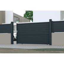 distance entre pilier pour portail coulissant 4m perfect. Black Bedroom Furniture Sets. Home Design Ideas