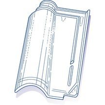 tuile de verre romane tbf n 5 genre romane m ridionale 28x43 5 cm verrerie la rochere. Black Bedroom Furniture Sets. Home Design Ideas