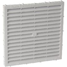 Grille a�ration sp�ciale fa�ade carr�e blanc Nicoll - 118x118 mm