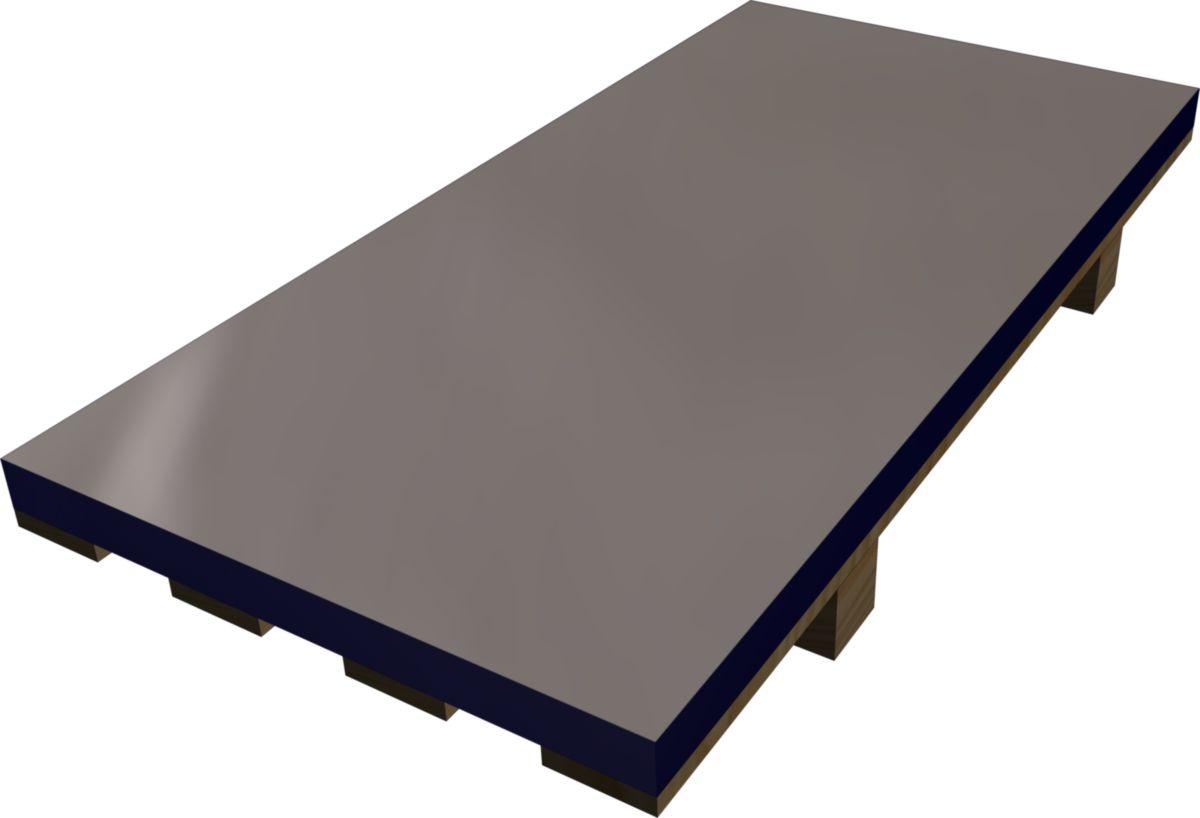 hild feuille de zinc naturel n 176 13 233 p 0 7 mm 2x1 m point p