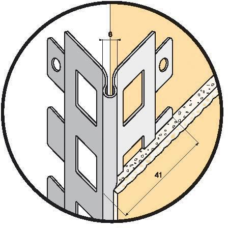 Protge Angle Perfor Pour Enduit Projet  Acier Galvanis  L  M