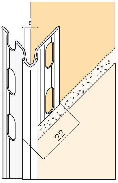 Protège Angle Perforé Pour Cloison Traditionnelle Pvc Blanc L 250 M Ailes 42x42 Mm