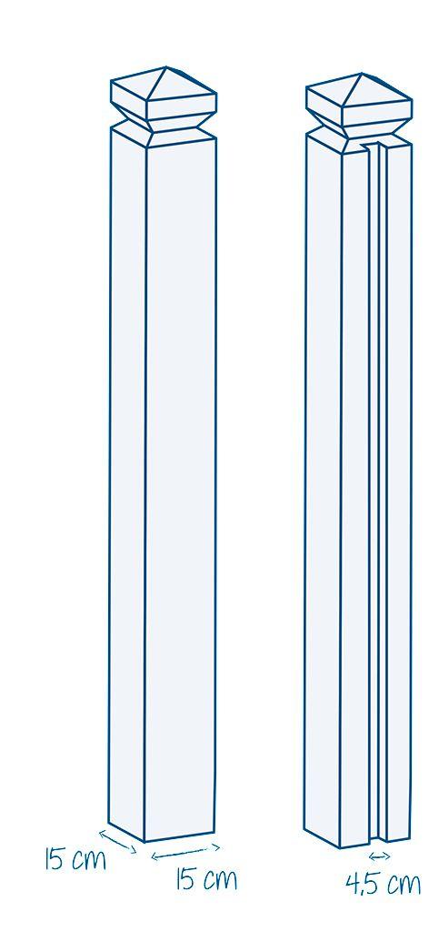 Rousseau Clotures Pilier Plein Ou 1 Rainure Béton H 2