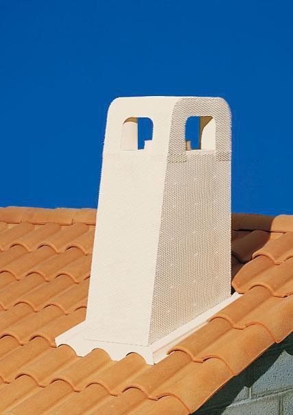 poujoulat sortie de toit cr pie provence 230 mm pente 30 36 6 poujoulat ocre point p. Black Bedroom Furniture Sets. Home Design Ideas