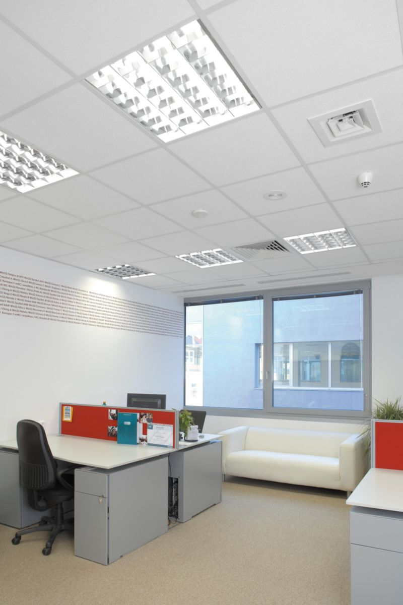 Owacoustic Dalle Plafond Acoustique Laine Minerale Sandila Smart 70 23n Owa 14x600x600 Mm Bord Droit Chant 3 Point P