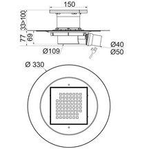 siphon de sol douche l 39 italienne venisio sortie horizontale wirquin d coration. Black Bedroom Furniture Sets. Home Design Ideas