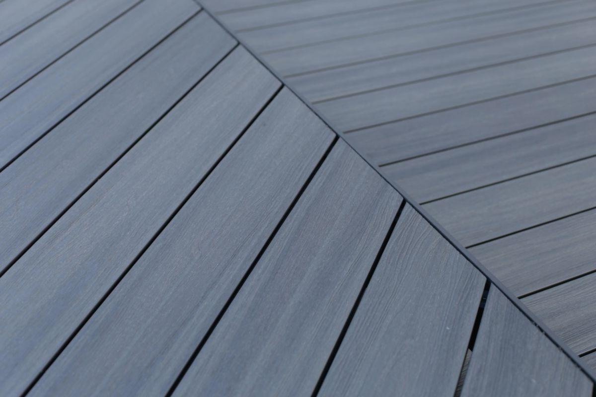 Fiberdeck Lame De Terrasse Bois Composite Co Extrude Patio Gris L 3 60 M 22 5x145 Mm Point P
