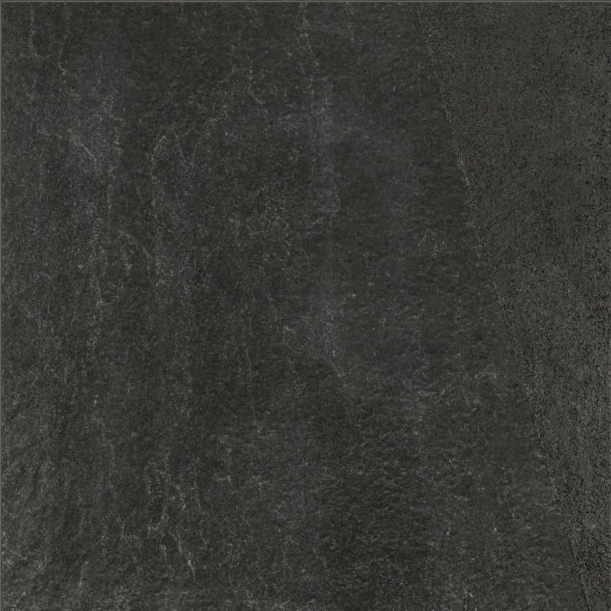 Carrelage sol intérieur grès cérame X-Rock - noir mat rectifié - 60x60 cm