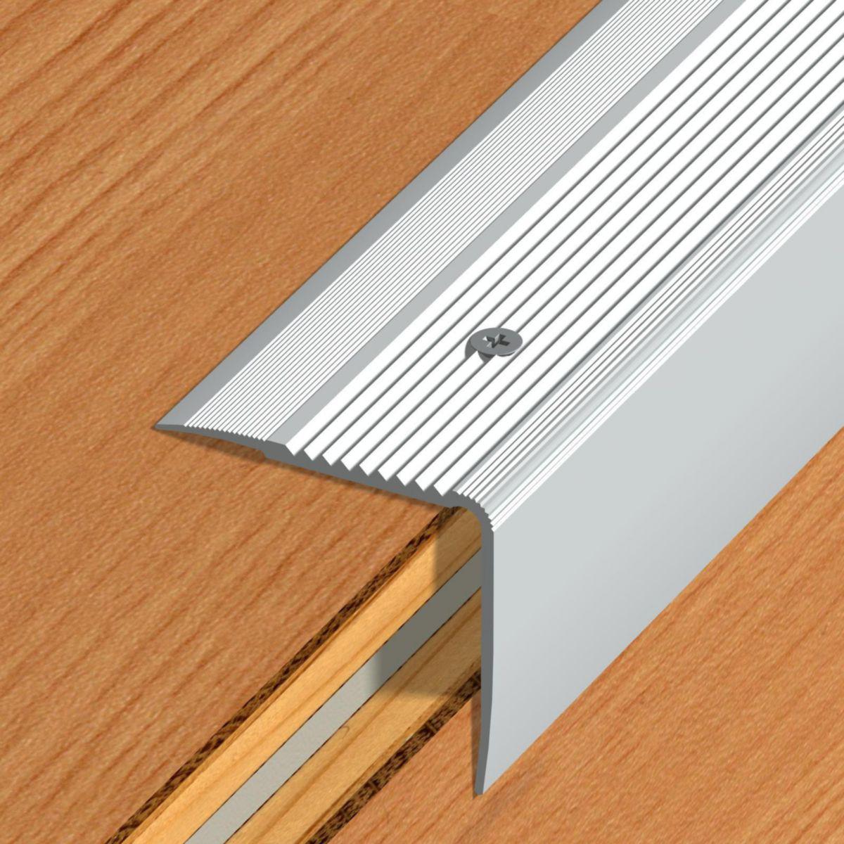 Nez De Marche Stri M Tallique Vis Pose Rapport E 41v Aluminium  ~ Nez De Marche Antidérapant Escalier Bois