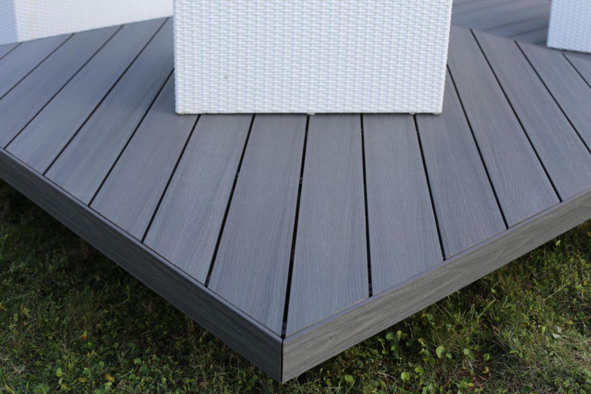 fiberdeck profil de finition pour lame de terrasse patio. Black Bedroom Furniture Sets. Home Design Ideas