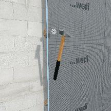 panneau de construction carreler wedi 1250x600x10 mm. Black Bedroom Furniture Sets. Home Design Ideas