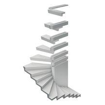 couvercle de r hausse pour escalier b2m b ton gris pbm. Black Bedroom Furniture Sets. Home Design Ideas