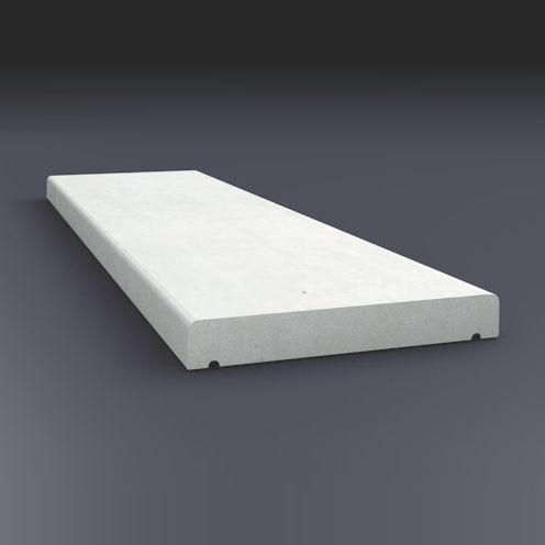 Couvertine Plate Béton Blanc 100x30 Cm Pbm Industrie