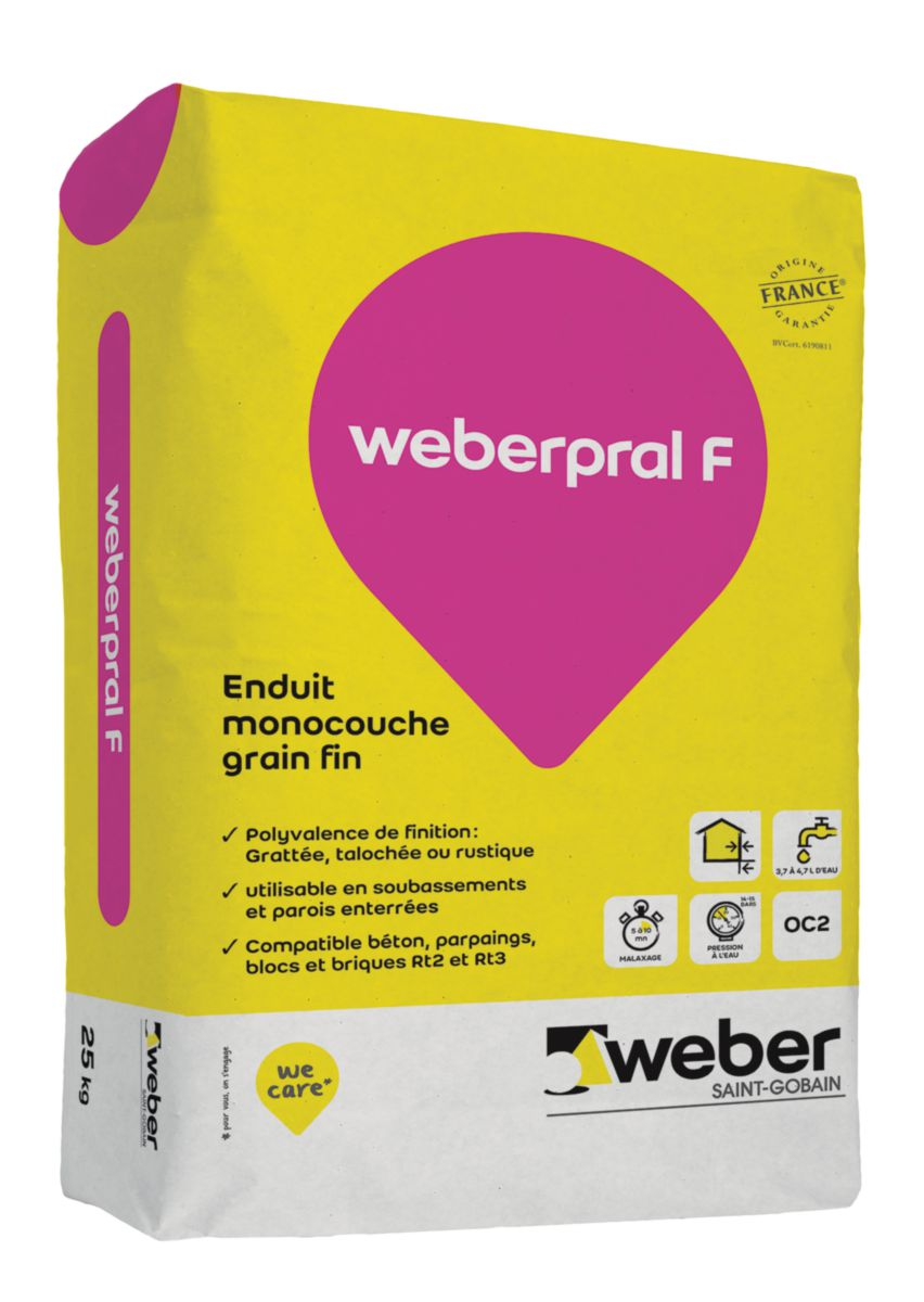 prix sac enduit facade weber et broutin. Black Bedroom Furniture Sets. Home Design Ideas