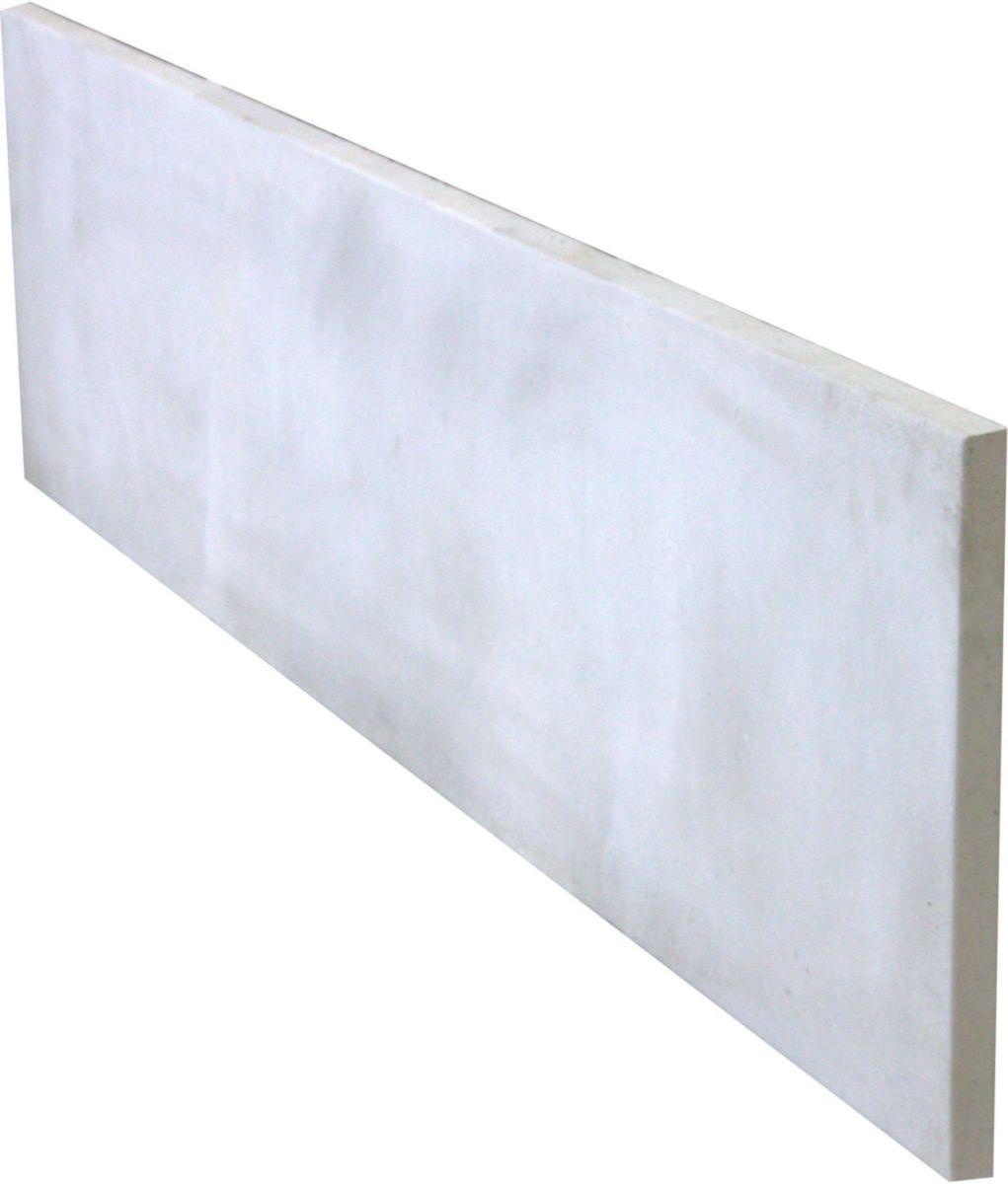 supérieur Plaque béton armé lisse gris 1920x500x35 mm - MAUBOIS - Décoration  extérieure - Distributeur de matériaux de construction - Point.P