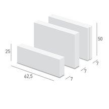 carreau de b ton cellulaire lisse cl 50 caropro 62 5x50 cm p 7 cm ytong pl tre. Black Bedroom Furniture Sets. Home Design Ideas