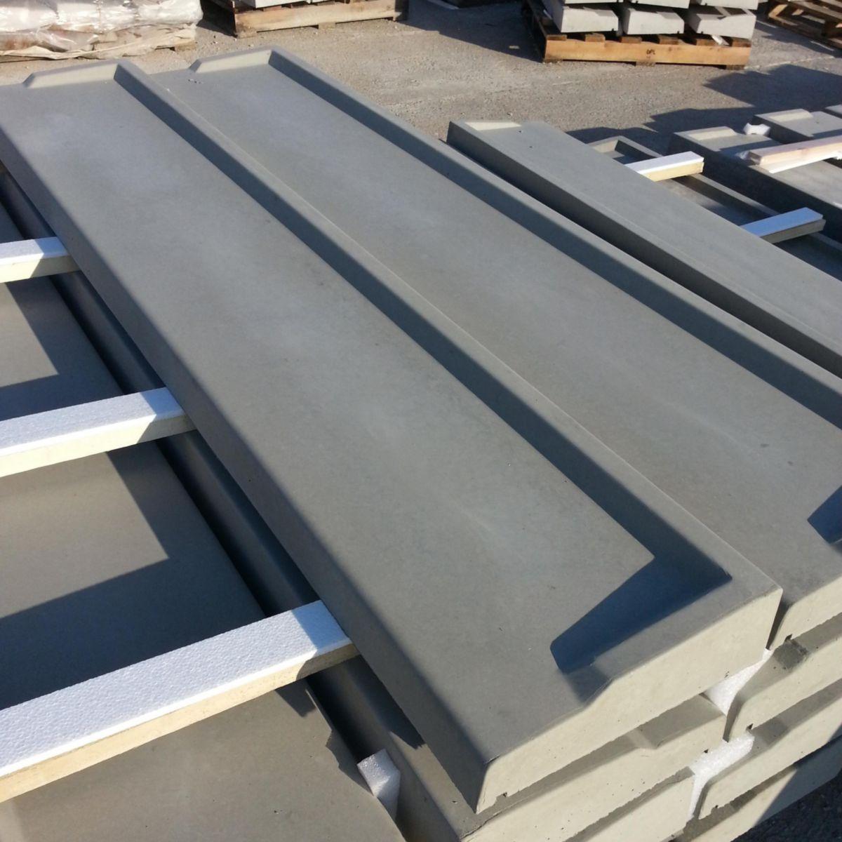 opl appui de fen tre ciment gris 1 52 x 0 345m c te. Black Bedroom Furniture Sets. Home Design Ideas