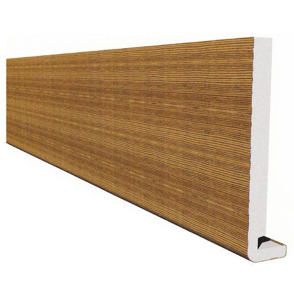 planche de rive équerre - pvc extra blanc - l. 5 m - l. 200 mm