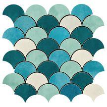 Carrelage Mural Interieur Faience Shades Decor Bleu Mix 30x30 Cm
