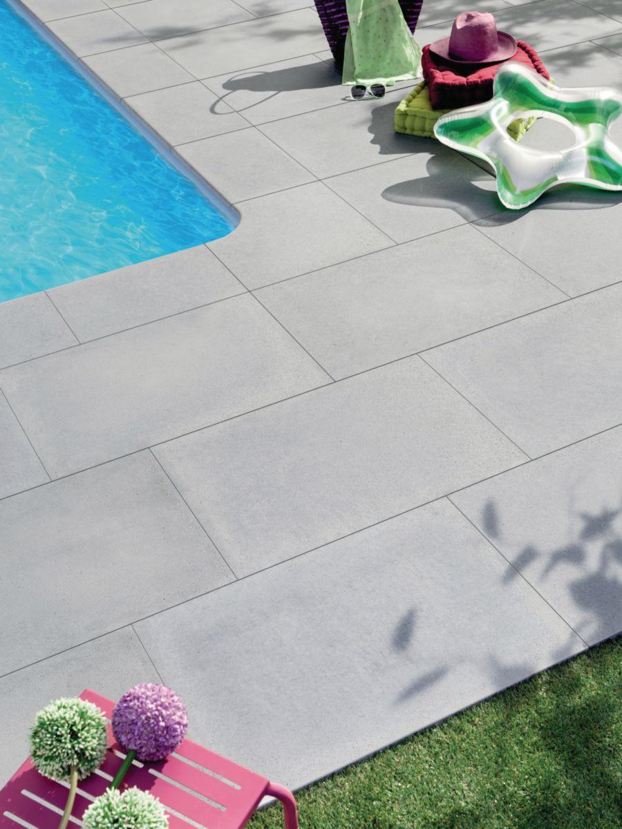 margelle droite plate sol extrieur pierre reconstitue rustique bulle ton gris 50x33 cm p35 cm pierra dcoration extrieure distributeur de